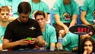 Watch This Teenager Smash The World Rubik's Cube Record In Less Than Six Seconds