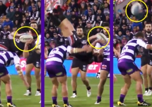 Watch This Rugby Player Set Up An Astounding Play By Going All Out Mid-Flip