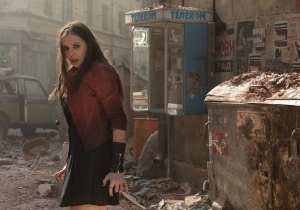 Scarlet Witch delivers a beating in our exclusive 'Age Of Ultron' clip