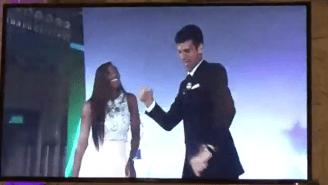 Serena Williams And Novak Djokovic Got Their Boogie On At The Wimbledon Championship Dinner