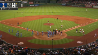Watch The Benches Clear In A Game Between The Astros And Rangers