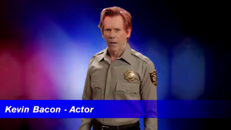 Kevin Bacon Will Arrest You If You Don't Shut Up During Movies