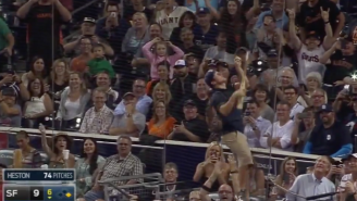 Watch This Padres Grounds Crew Member Climb The Netting To Save A Broken Bat