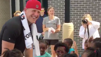 An Army Of Children Swaddled J.J. Watt And Taught Him The Nae Nae