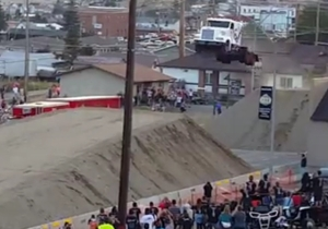 Watch As This Stunt Driver Breaks A World Record For Jumping A Semi