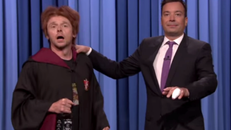 Watch Simon Pegg Play Drunk Ron Weasley To Celebrate Harry Potter's Birthday On 'The Tonight Show'