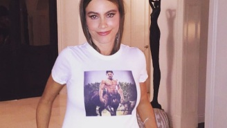Sofia Vergara's Birthday Outfit Included A T-Shirt Depicting Joe Manganiello As A Hunky Centaur