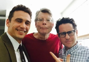 Here's Stephen King, James Franco, And JJ Abrams On The Set Of '11/22/63′