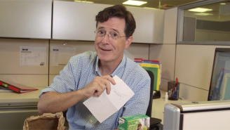 Stephen Colbert Reveals A Bit Too Much In The First Episode Of His New Lunch Web Series
