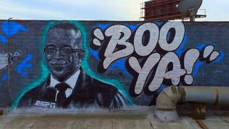 Stuart Scott's Kids Visited His Mural Ahead Of This Year's ESPY Awards