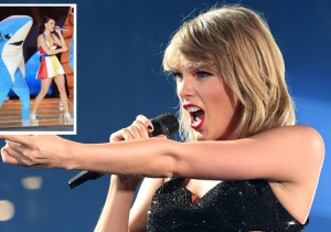 Taylor Swift Threw Shade At Katy Perry With Left Shark While Performing 'Bad Blood'