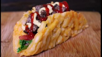 Celebrate America's Melting Pot With A French Fry Burger Taco This July 4th Weekend