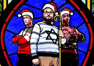 Miley Cyrus, Christmas, church vomit: Trailer for Seth Rogen's 'Night Before'