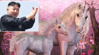 Kim Jong-Un Claims North Korea Discovered A Unicorn Lair Under A Temple