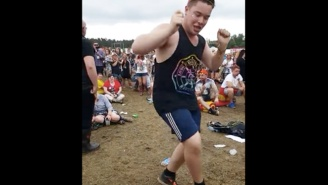 Nobody Is Having As Much Fun As This Guy Dancing To 'Uptown Funk' At A Music Festival