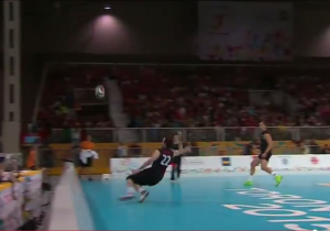 A Canadian Volleyball Player Made An Astonishing Kick Save At The Pan-Am Games