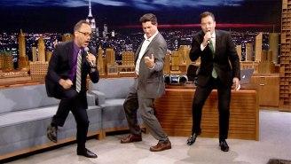 David Wain And Michael Showalter Ended Up Lip 'Singing' With Jimmy Fallon