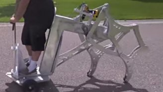 Here's A Walking Machine Powered By A Cordless Drill
