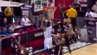 Willie Cauley-Stein Comes Out Of Nowhere For A MASSIVE Block In Summer League
