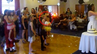 Watch This Bad Mom Drop Her Own Child To Catch A Wedding Bouquet