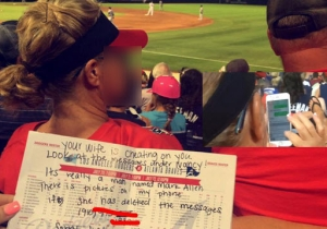 These Girls Possibly Exposed A Cheating Wife Who Was Sexting While Sitting Next To Her Husband
