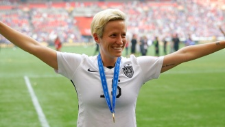 U.S. National Team Midfielder Megan Rapinoe Knelt During The Anthem In A Nod To Colin Kaepernick