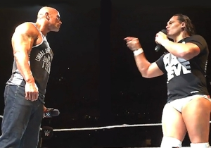 Check Out This Charmingly Dorky Picture Of A Baby Bo Dallas Hanging Out With The Rock