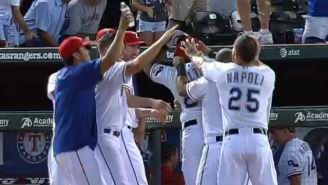Adrian Beltre Defends His Head By Any Means Necessary After Walk-Off Win