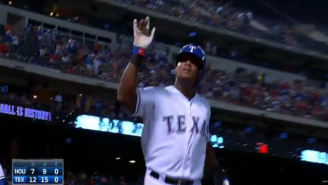 Adrian Beltre Hit For The Cycle And Had To Fight Off Lots Of Dreaded Head-Touching