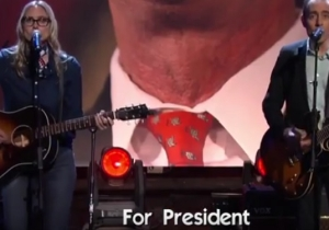 Ted Leo And Aimee Mann Sing For Lincoln Chafee On 'Conan'