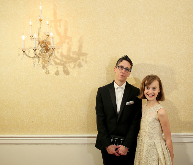 Alison Bechdel with Sydney Lucas, who plays Alison Bechdel in the Fun Home musical.