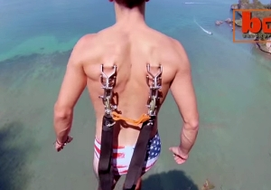 This Guy Attached A Parachute To His Skin And Jumped Off A Cliff