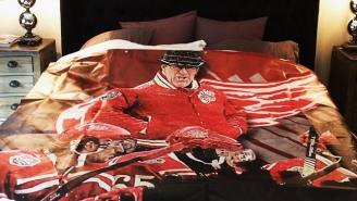 Johan Franzen Got His Teammate Some Sweet Mike Babcock Inspired Bed Sheets