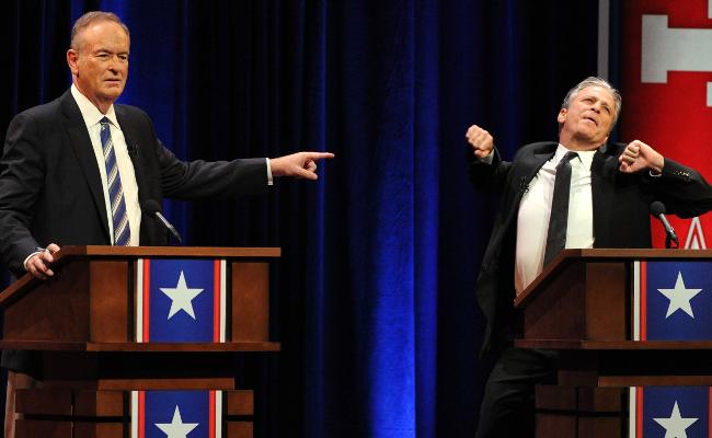 Bill O'Reilly and Jon Stewart