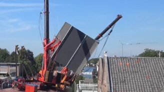 These Giant Cranes Toppled Over While Moving A Bridge Segment In The Netherlands