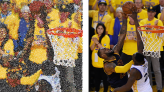 Here's Draymond Green's Iconic Block On LeBron James Recreated With Emojis