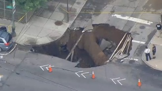 Brooklyn Is Now Home To A Giant, 25-Foot Sinkhole