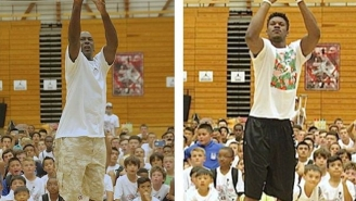 Michael Jordan And Jimmy Butler Had A Friendly Shootout At Jordan's Camp