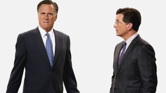 Stephen Colbert Gets A Little Help From Mitt Romney In These New 'Late Show' Promos