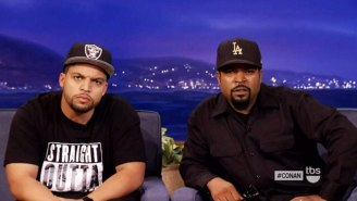 Ice Cube And O'Shea Jackson, Jr. Scowled On Command For 'Conan'