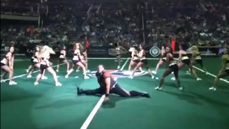 Watch This Large Man Hop In During A Dance Team's Performance