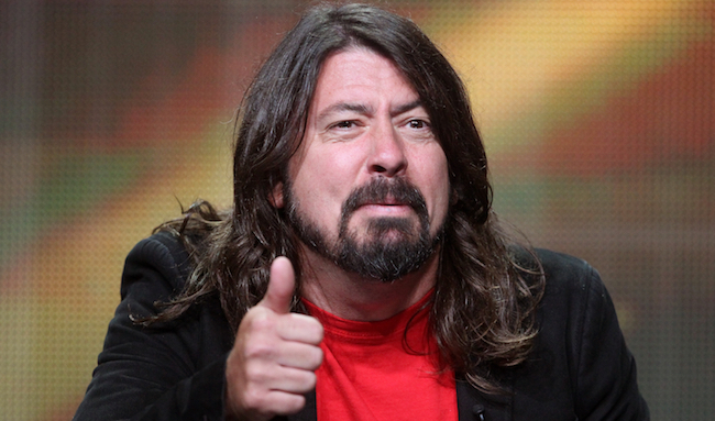 """speaks onstage at the """"Foo Fighters: Sonic Highways"""" panel during the HBO portion of the 2014 Summer Television Critics Association at The Beverly Hilton Hotel on July 10, 2014 in Beverly Hills, California."""
