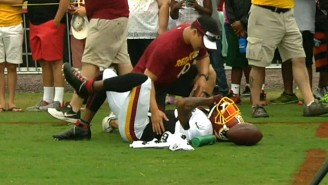 DeSean Jackson Reportedly Went Toe-To-Toe With A Blocking Sled At Practice And Lost