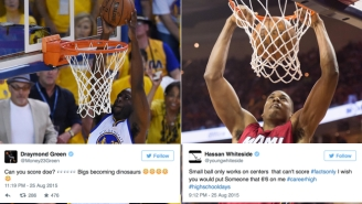 Draymond Green And Hassan Whiteside Aggressively Debate Small Ball On Twitter