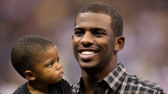 Let's Watch Chris Paul's Whole Family Do A Crazy Alley-Oop In The Pool