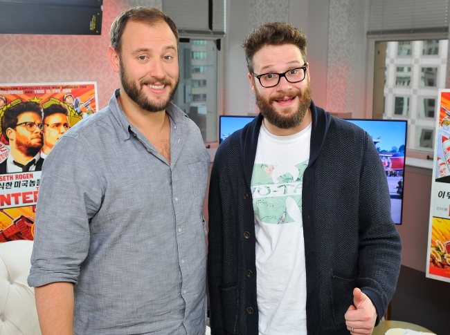 Seth Rogen And Evan Goldberg Visit POPSUGAR To Promote The Interview