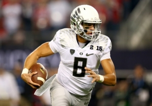 Marcus Mariota's First Preseason Game Couldn't Have Started Much Worse