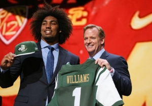 Watch Jets' Top Pick Leonard Williams Record A Safety With His First Sack