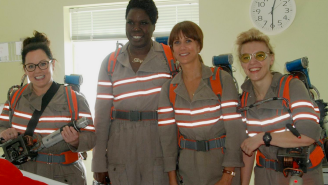 Sexist dudes can't believe these uppity 'Ghostbuster' dames visited sick kids