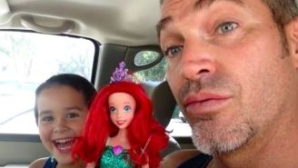 This Awesome Dad Has A Sweet Reaction To His Son's 'Little Mermaid' Doll Choice